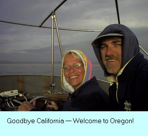 As the signs say: Leaving California — Welecome_  to Oregon.